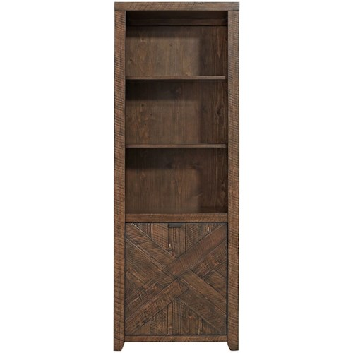 Liberty Furniture Shadow Lake Contemporary Bookcase with Adjustable Shelves