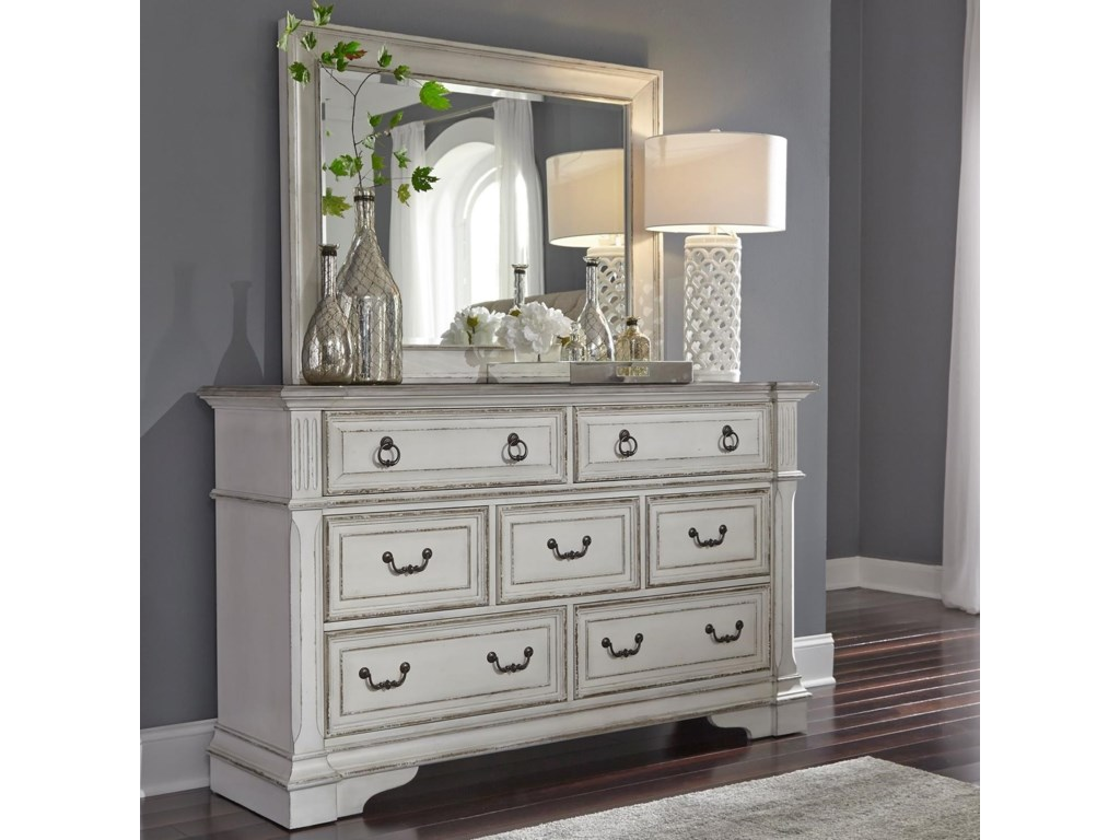 Vendor 5349 Abbey ParkDresser and Mirror
