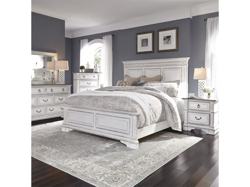 Vendor 5349 Abbey ParkQueen Panel Bed