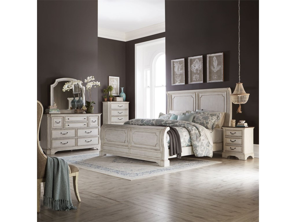 Liberty Furniture Abbey RoadKing Sleigh Bed
