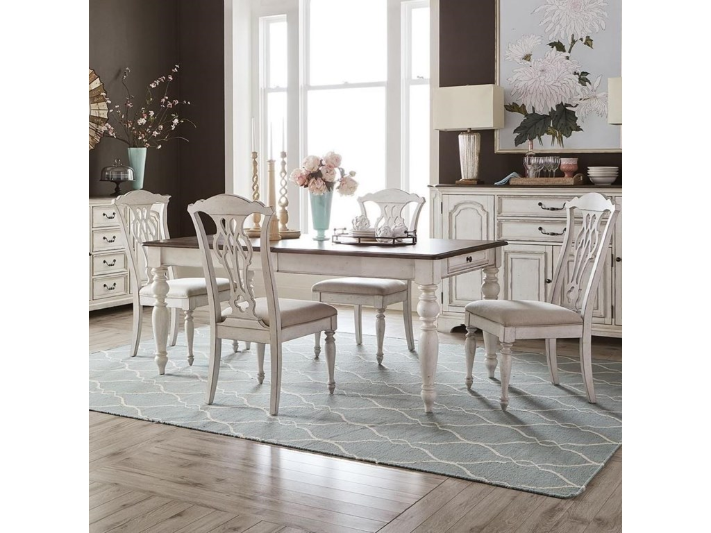 Liberty Furniture Abbey Road5-Piece Rectangular Table Set