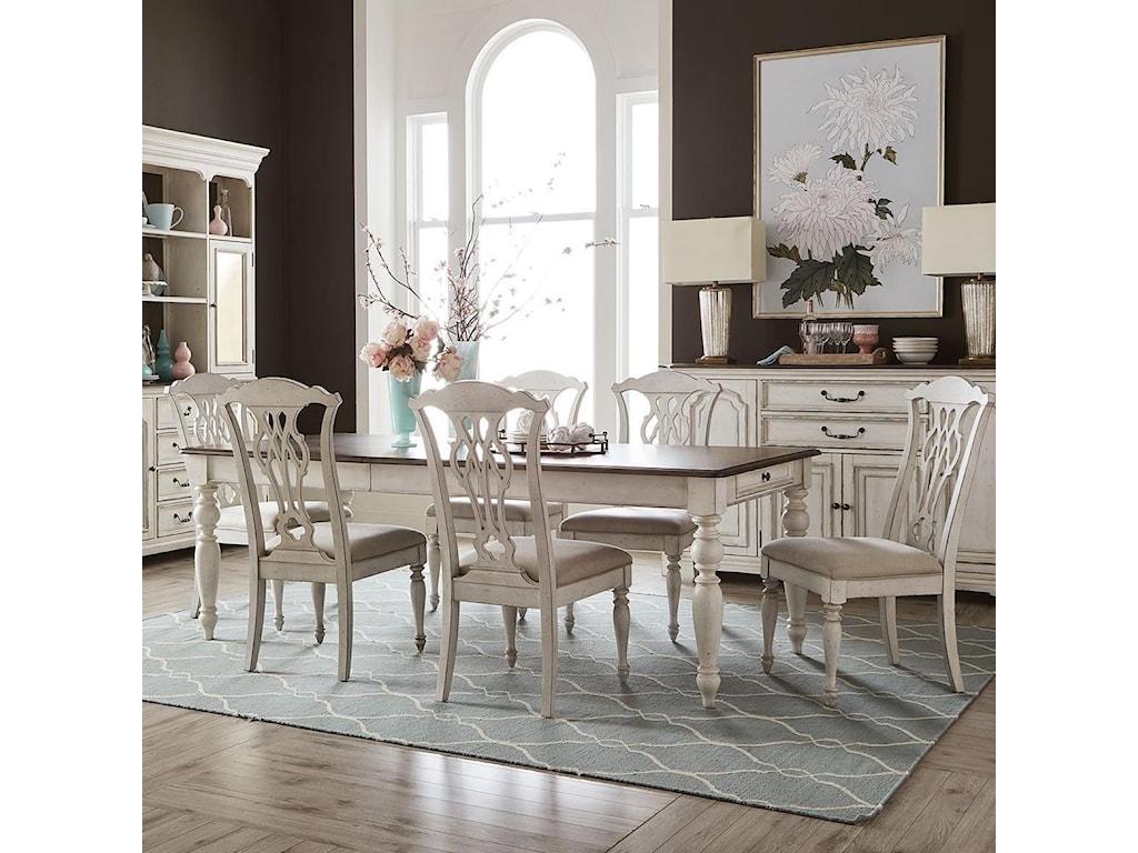 Liberty Furniture Abbey Road7-Piece Rectangular Table Set