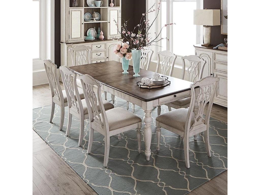 Liberty Furniture Abbey Road9-Piece Rectangular Table Set