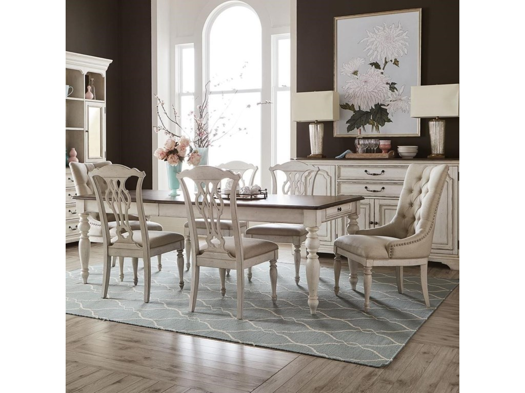 Liberty Furniture Abbey Road7-Piece Rectangular Table Set