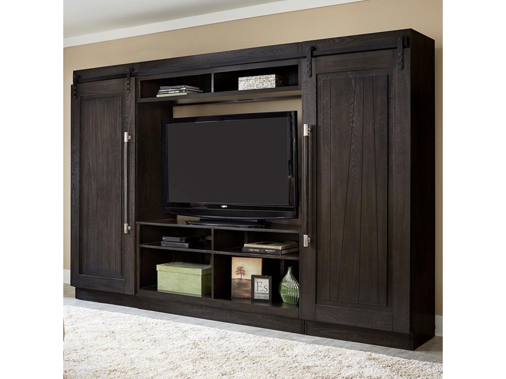 Liberty Furniture AbbeyEntertainment Center with Piers