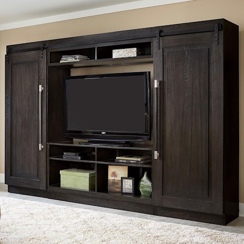 Liberty Furniture Abbey Entertainment Center with Piers