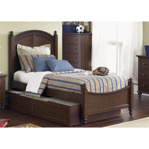 Liberty Furniture Abbott Ridge Youth Bedroom Twin Panel Bed with Trundle