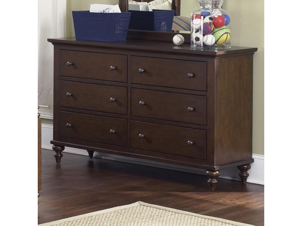 Liberty Furniture Abbott Ridge Youth Bedroom6 Drawer Dresser