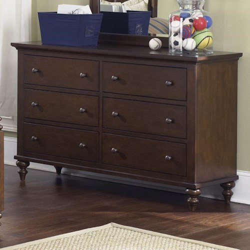 Liberty Furniture Abbott Ridge Youth Bedroom 6 Drawer Dresser