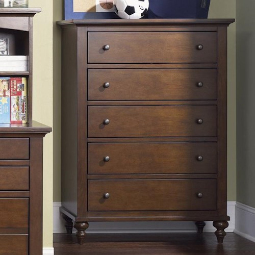 Liberty Furniture Abbott Ridge Youth Bedroom 5 Drawer Chest