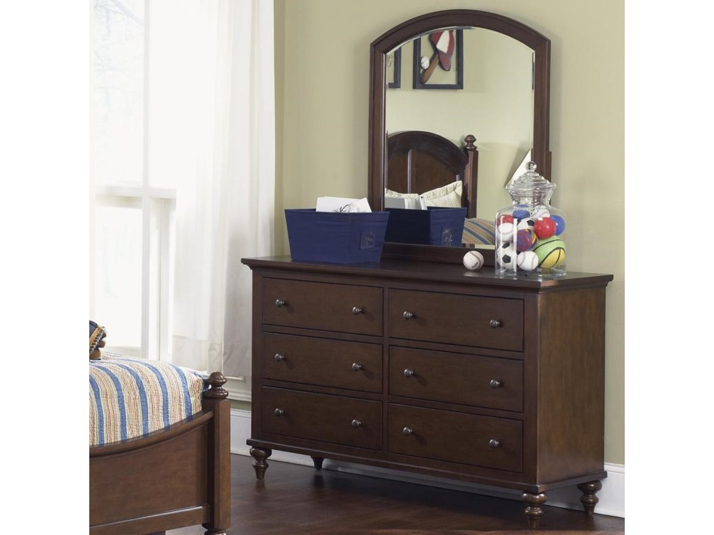 Vendor 5349 Abbott Ridge Youth BedroomDresser & Mirror