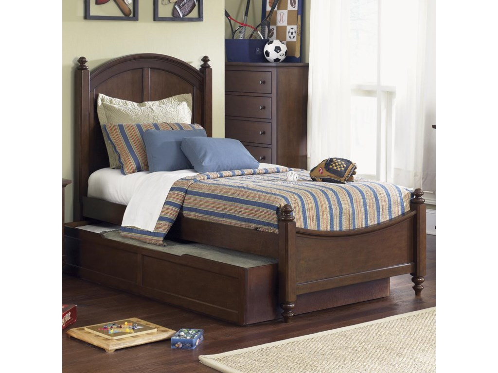 Twin Bed Shown. Shown with Optional Trundle.