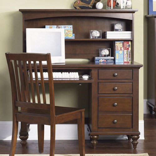 Liberty Furniture Abbott Ridge Youth Bedroom Student Desk with Hutch