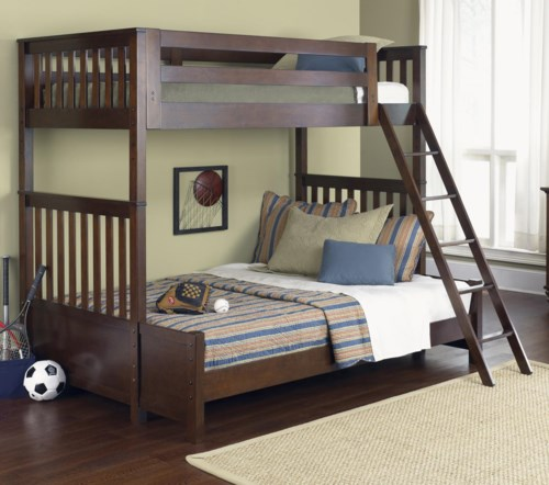 Liberty Furniture Abbott Ridge Youth Bedroom Twin Over Twin Bunkbed