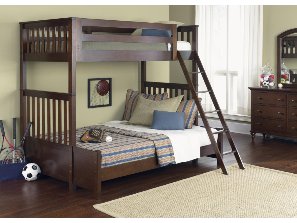 Vendor 5349 Abbott Ridge Youth BedroomTwin Over Twin Bunkbed