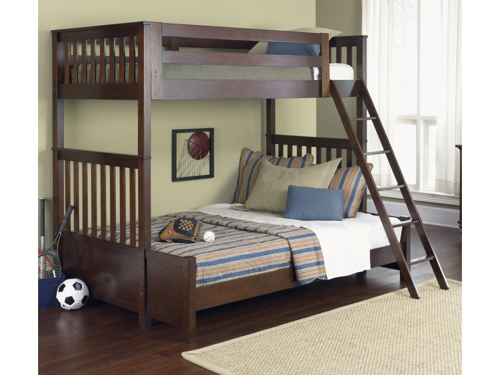 Vendor 5349 Abbott Ridge Youth BedroomTwin Over Full Bunkbed