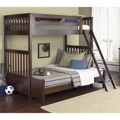 Liberty Furniture Abbott Ridge Youth Bedroom Twin Over Full Bunkbed