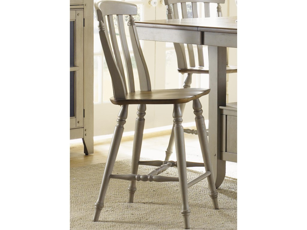 Liberty Furniture Al FrescoSlat Back Counter Height Chair