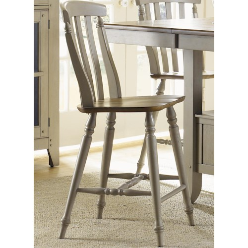 Liberty Furniture Al Fresco Counter Height Chair with Slat Back