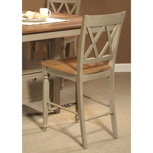 Liberty Furniture Al Fresco Counter Chair with Double X-Back