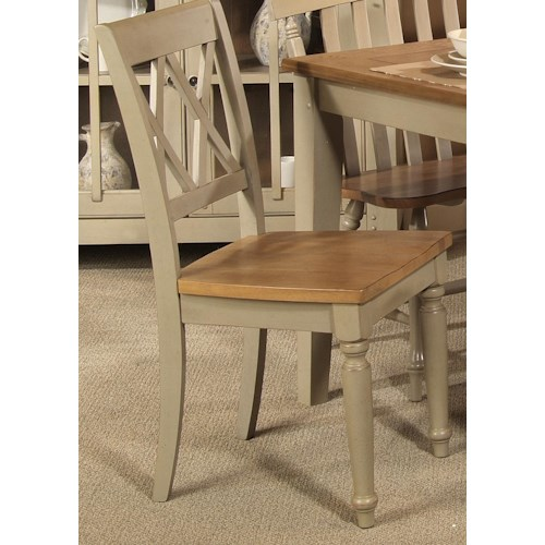 Liberty Furniture Al Fresco Side Chair with Double X-Back