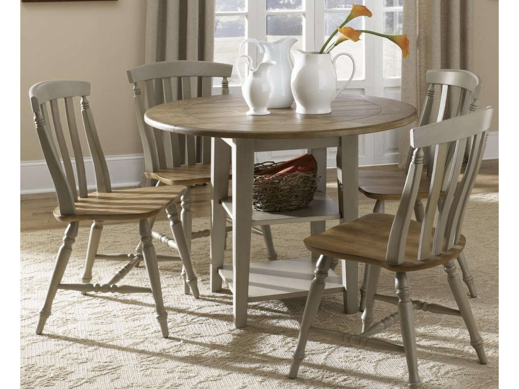 Liberty Furniture Al Fresco5 Piece Drop Leaf Table and Chairs Set