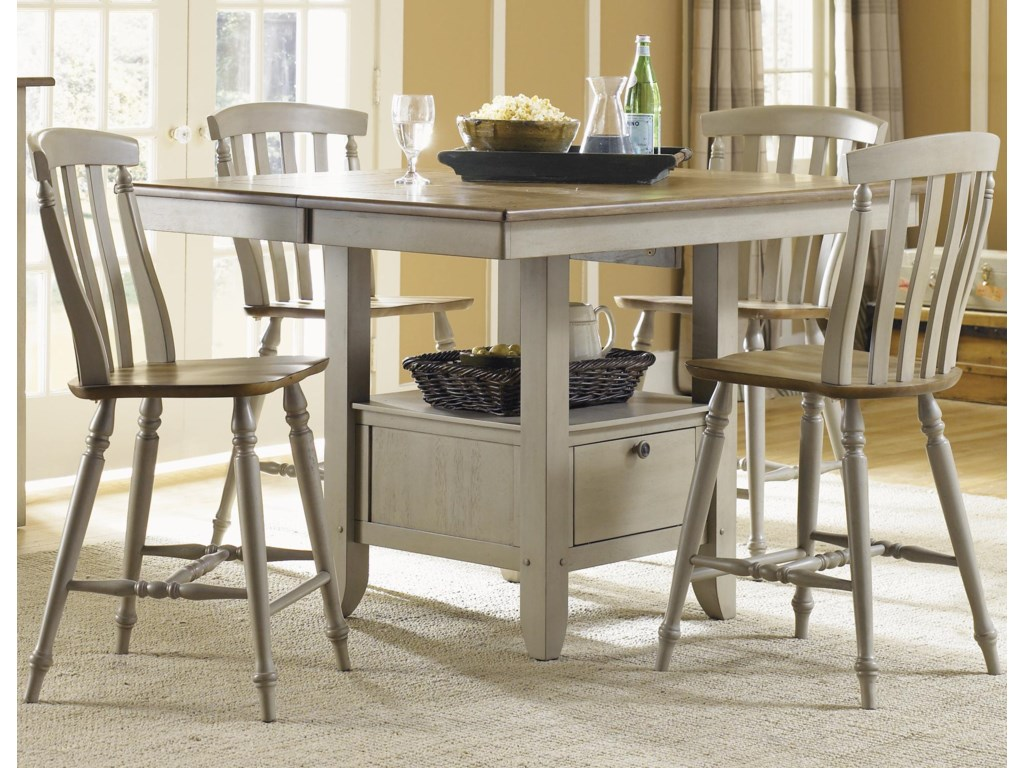 Liberty Furniture Al Fresco5 Piece Gathering Table and Chairs Set