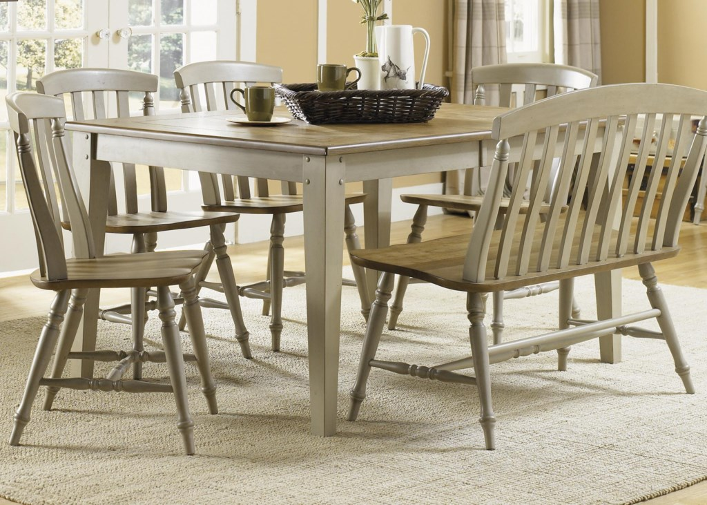 Liberty furniture al fresco6 piece dining table and chairs set