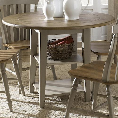 Liberty Furniture Al Fresco Round Drop-Leaf Dining Leg Table