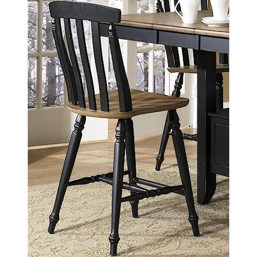 Liberty Furniture Al Fresco II Counter Height Chair with Slat Back
