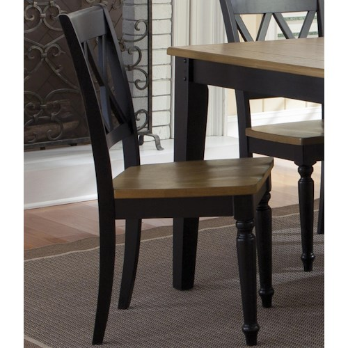 Liberty Furniture Al Fresco II Side Chair with Double X-Back