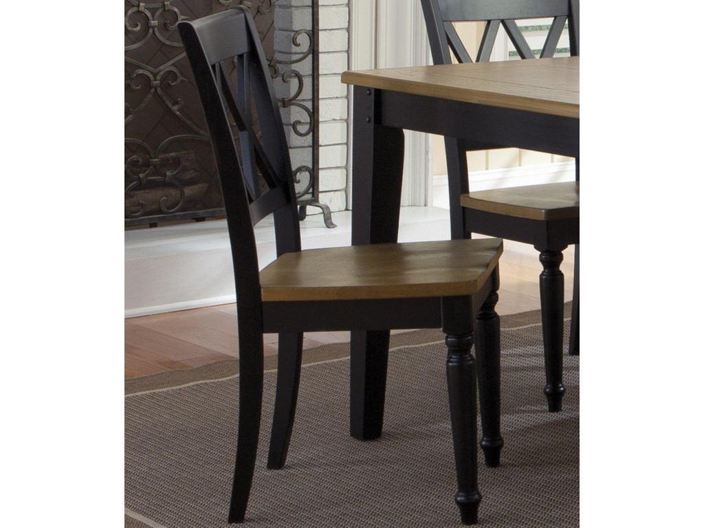 Liberty Furniture EllieDouble X-Back Side Chair
