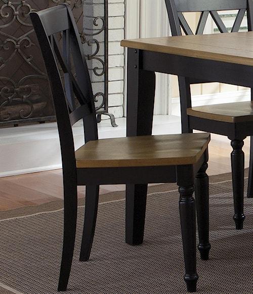 Liberty Furniture Al Fresco II Side Chair with Double X-Back