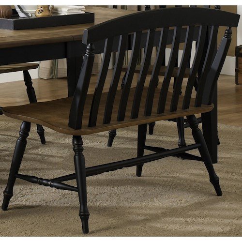 Liberty Furniture Al Fresco II Two Tone Slat Back Bench