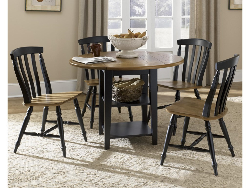 Liberty Furniture Al Fresco II5 Piece Drop Leaf Table and Chairs Set
