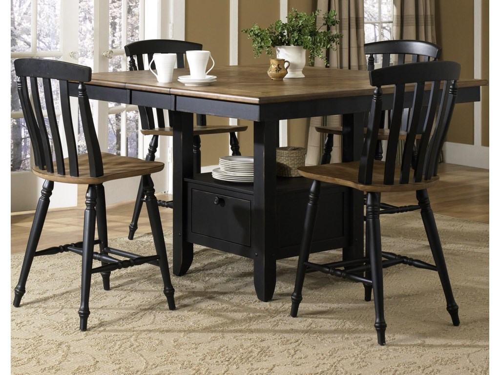 Liberty Furniture Al Fresco II5 Piece Gathering Table and Chairs Set