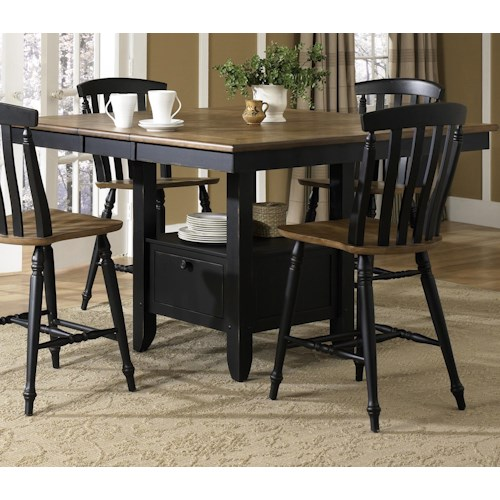 Liberty Furniture Al Fresco II Gathering Table with Storage