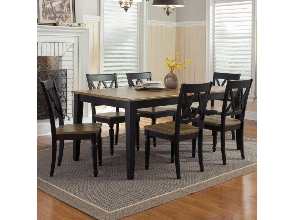 Liberty Furniture Al Fresco II7 Piece Rectangular Table and Chairs Set
