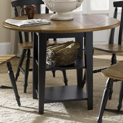 Liberty Furniture Al Fresco II Round Drop-Leaf Dining Leg Table
