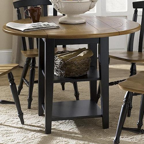 Liberty Furniture Al Fresco II Round Drop-Leaf Dining Leg Table