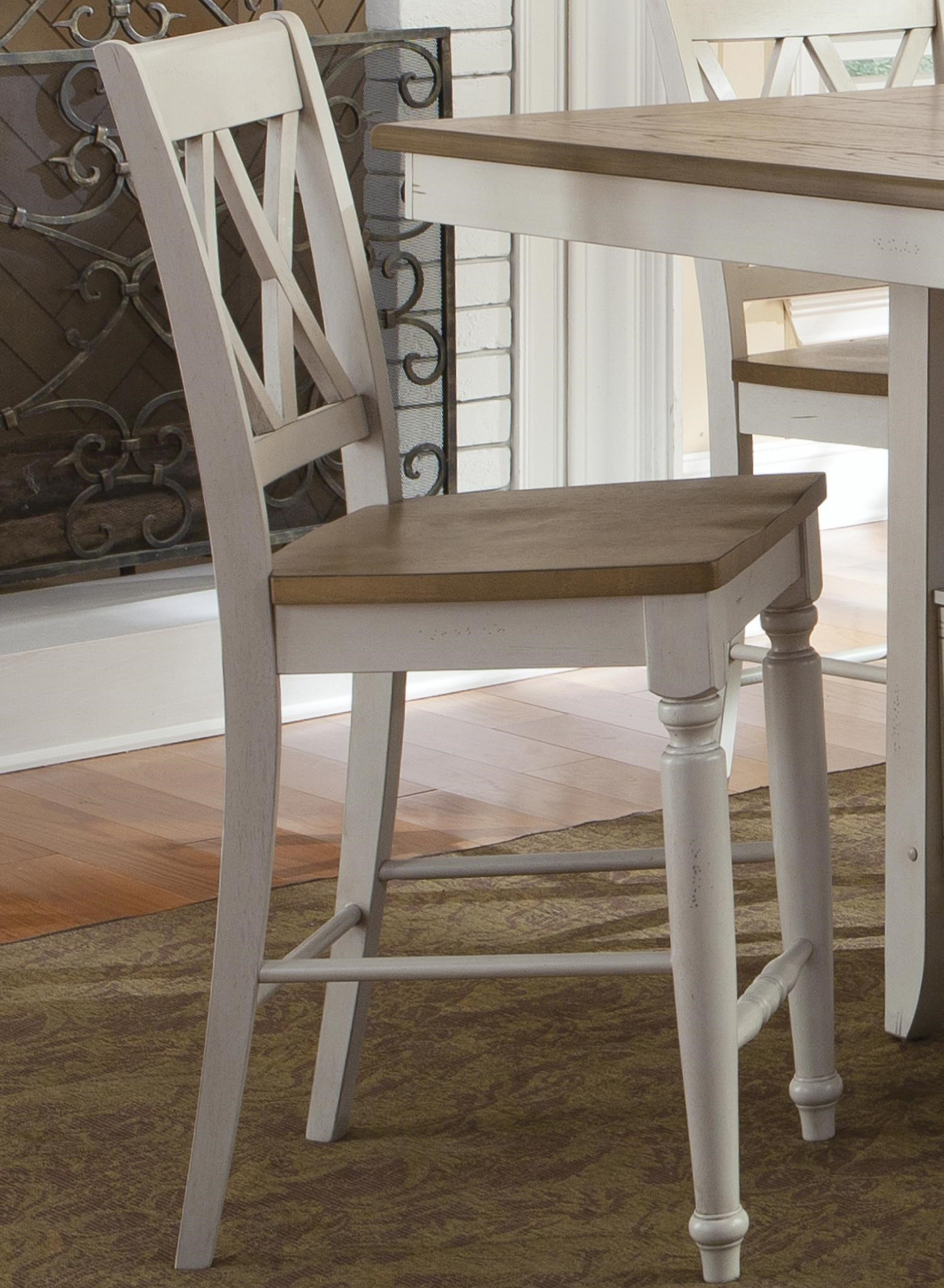 Counter Chair with Double X-Back