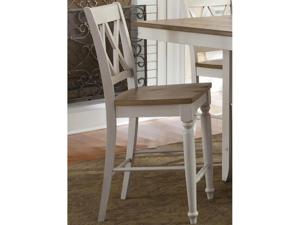 Vendor 5349 Al Fresco IIIDouble X-Back Counter Chair