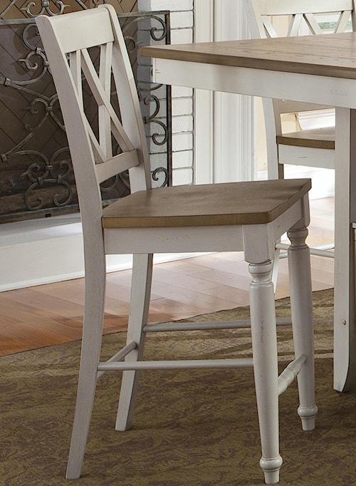 Liberty Furniture Al Fresco III Counter Chair with Double X-Back