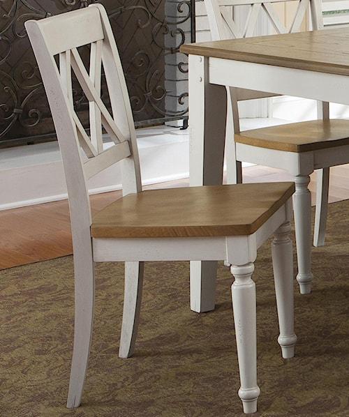 Liberty Furniture Al Fresco III Side Chair with Double X-Back