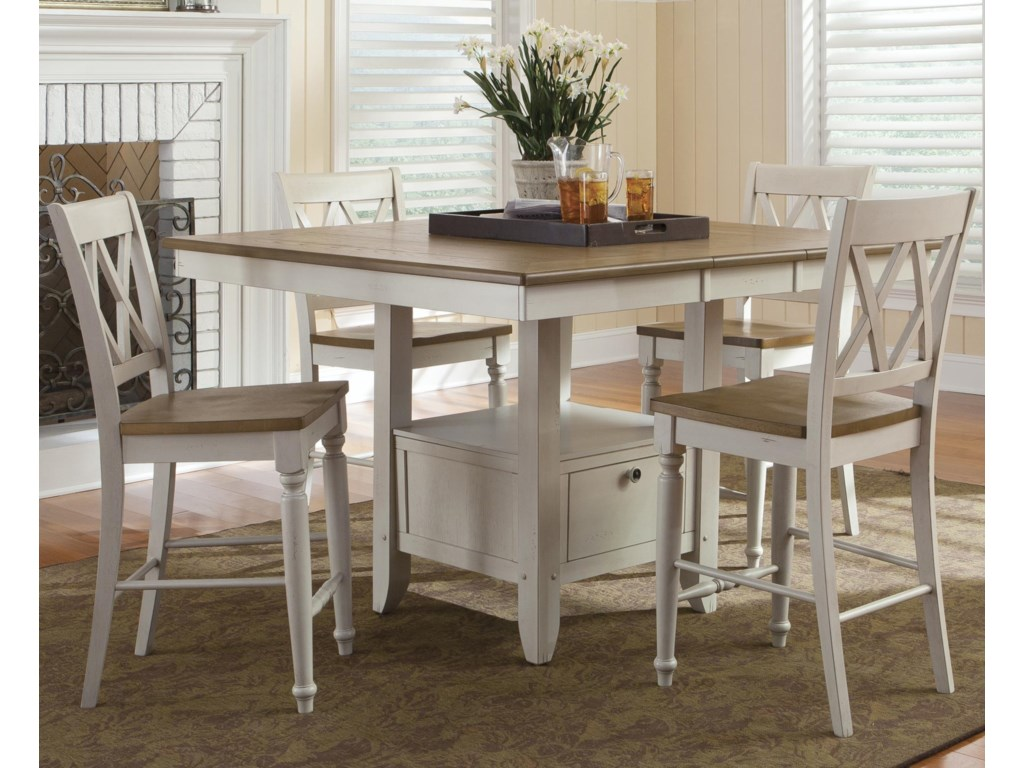 Liberty Furniture Al Fresco III5 Piece Gathering Table and Chairs Set
