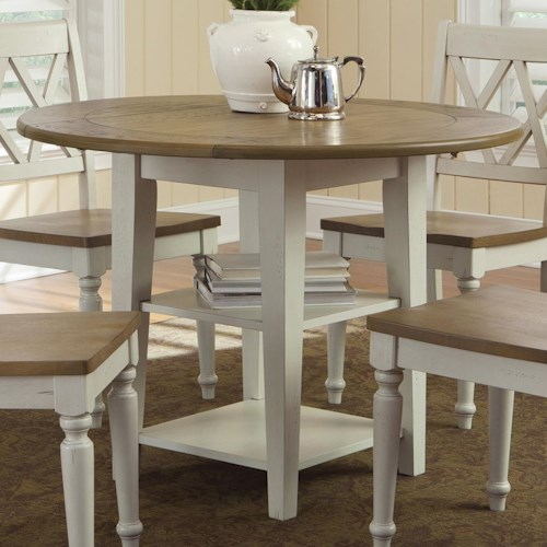 Liberty Furniture Al Fresco III Round Drop-Leaf Dining Leg Table