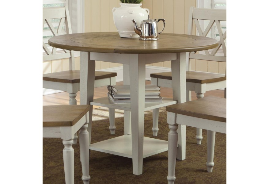 Freedom Furniture Ellie Round Drop Leaf Dining Leg Table Ruby