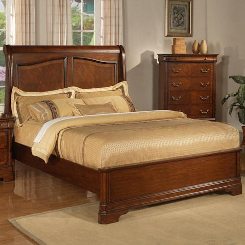 Liberty Furniture Alexandria King Sleigh Bed with Low Profile Footboard