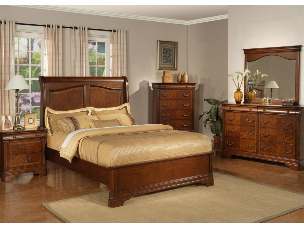 Shown with Nightstand, Queen Bed, Chest and Mirror