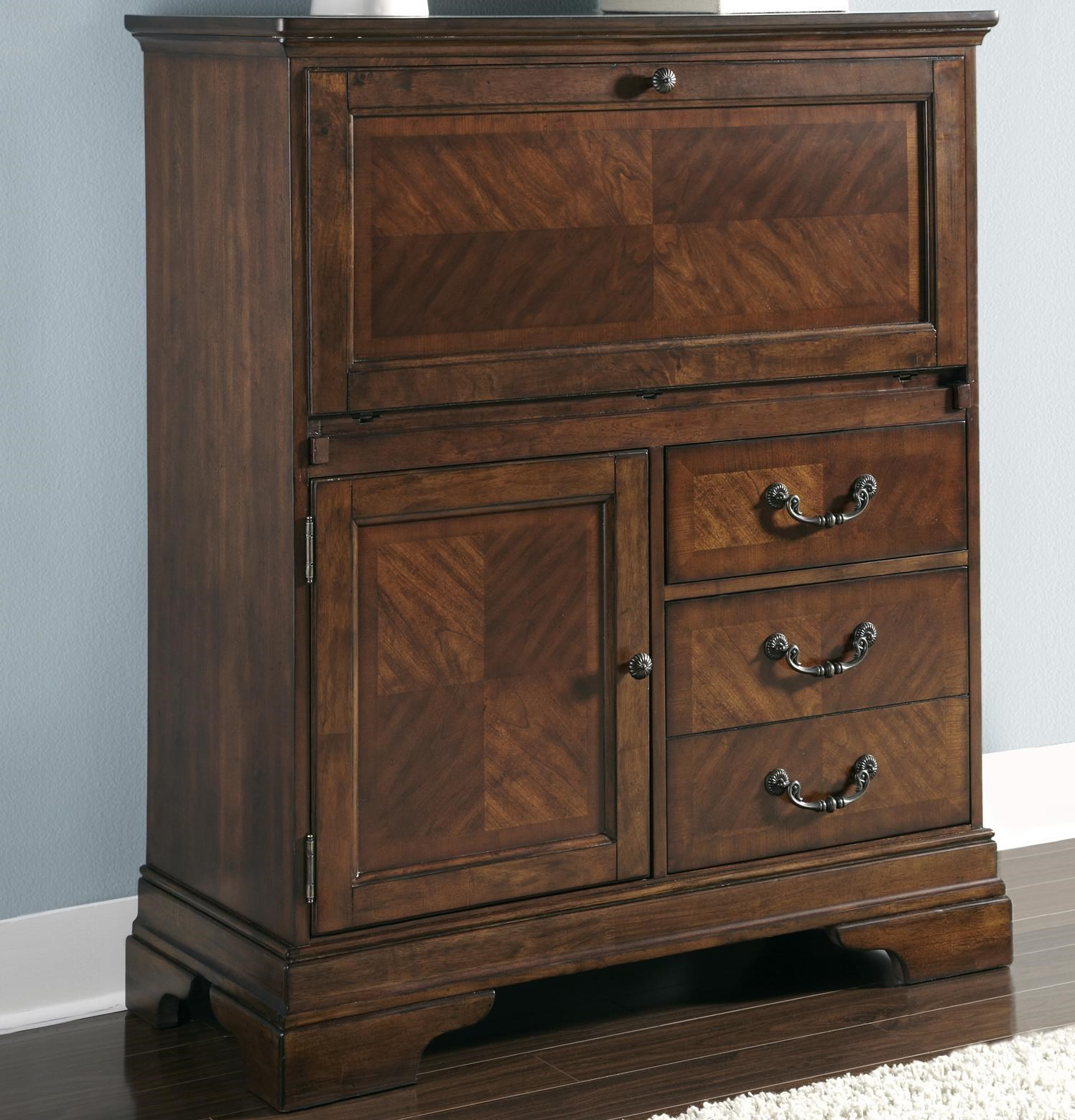 Liberty Furniture Alexandria Computer Cabinet With Drop Lid And Charging  Station